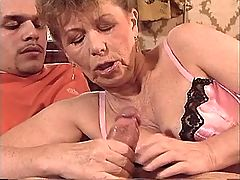 Aged mature catch cum after sex