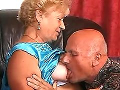Granny and old man have hard sex