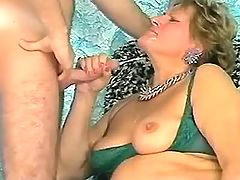 Lady has fun w guy and gets facial