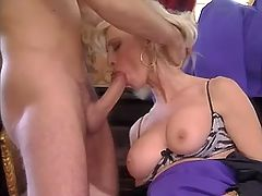 Blonde milf gets facial after anal