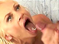 Elder mature in glasses sucks n jumps on big cock