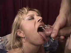 Mom fucks and gets cumshot in mouth