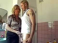 Young guy gets seduced by old slut