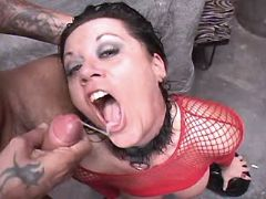 Mature fucks w guys and gets facial