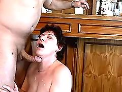 Lewd mature has fuck from behind