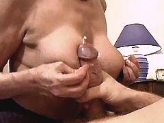 Aged mature has anal n gets cumshot