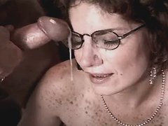 Elder mature has fuck n gets facial